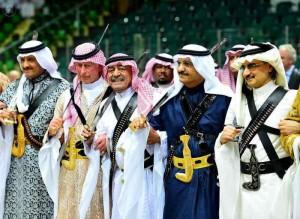 Saudis perform a traditional dance in Riyadh