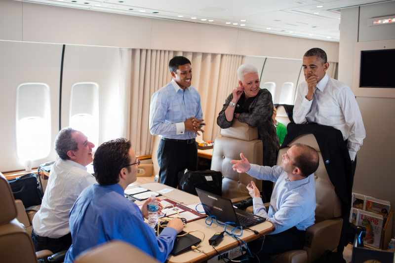 Obama at Airforce 1