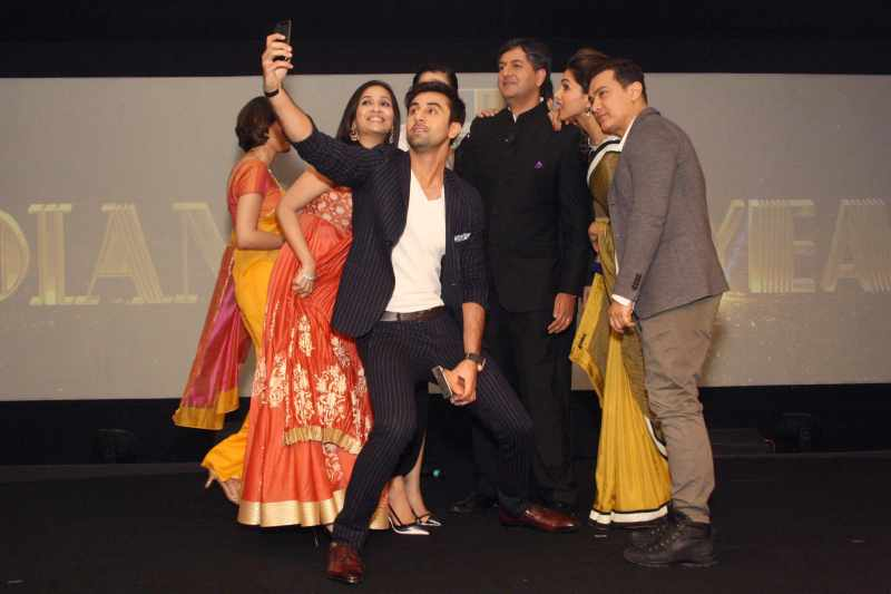 The famous Selfie at NDTV awards event