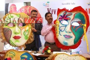 Goa Tourism Minister Dilip Parulekar and GTDC Managing Director Nikhil Desai at an event