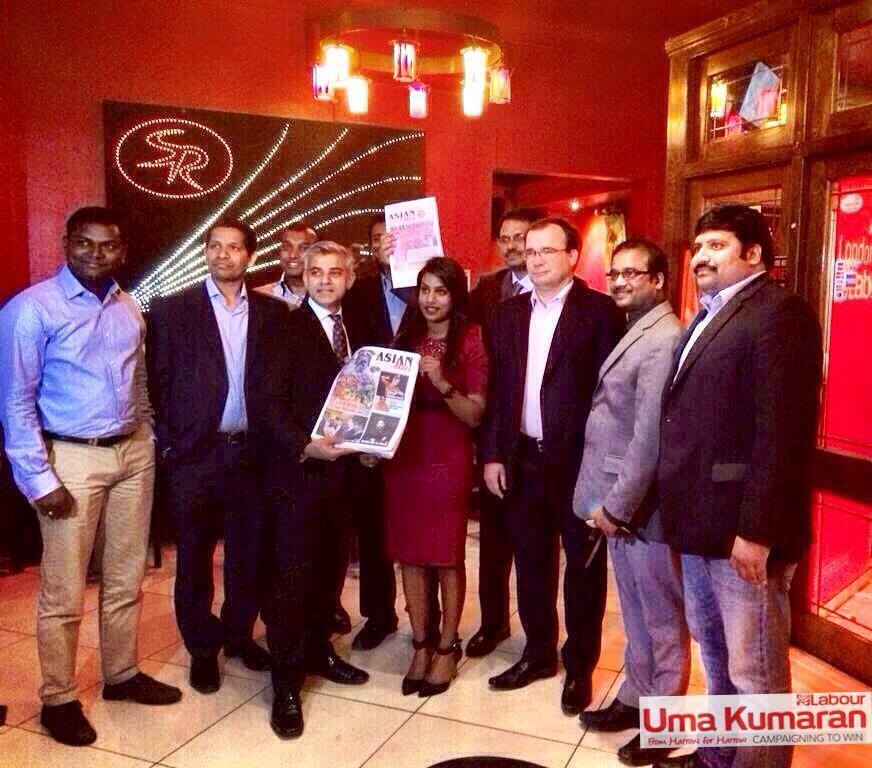 Uma Kumaran with Asian Lite and Sadiq Khan (1)