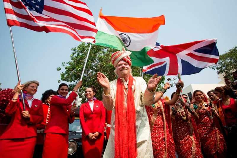 Sir Richard Branson during the launch of Virgin Air in Mumbai (File)