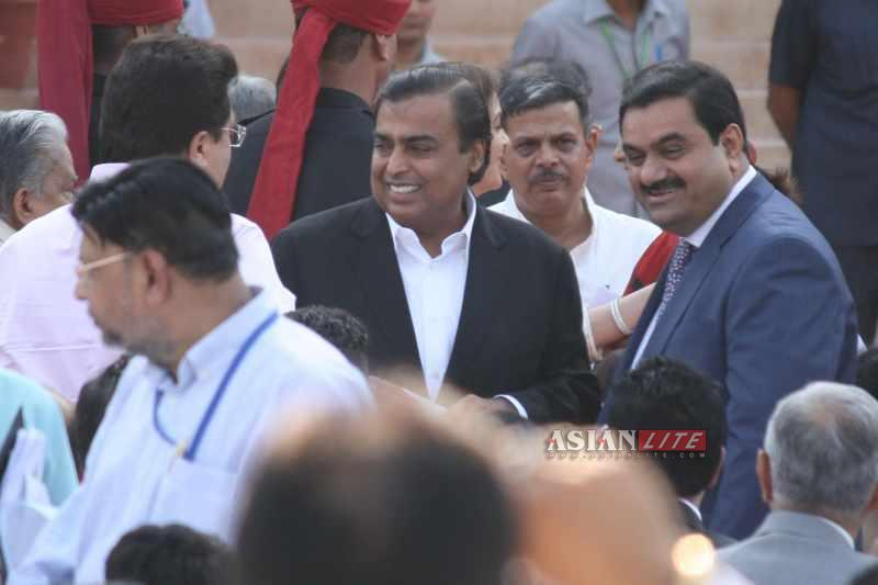 Mukesh Ambani at Modi inauguration