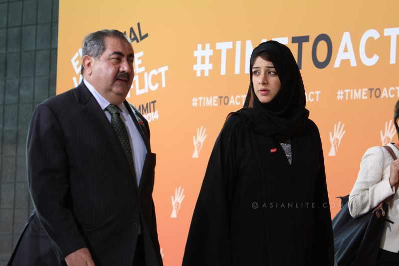 Iraqi Foreign Minister Hoshyar Zebari  with UAE Minister Reem Al Hashimy