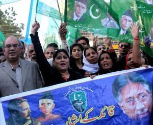 Musharraf supporters