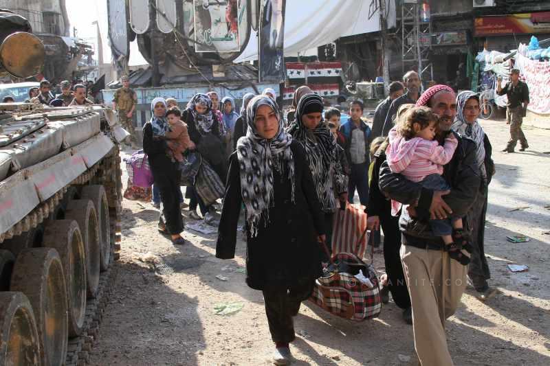 Refugees flee