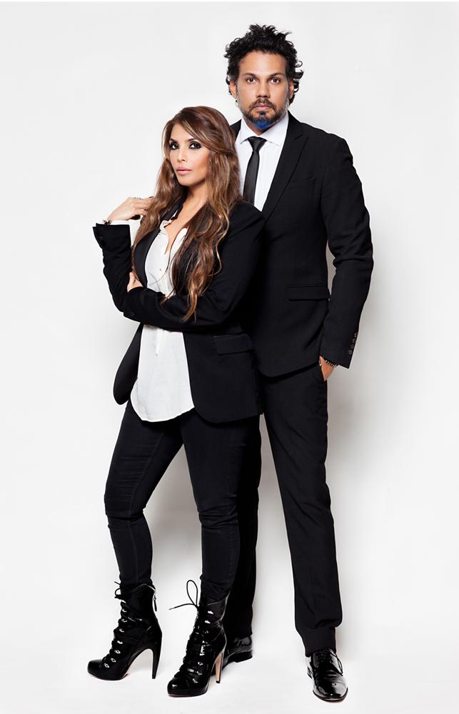 Designer duo Shane and Falguni Peacock
