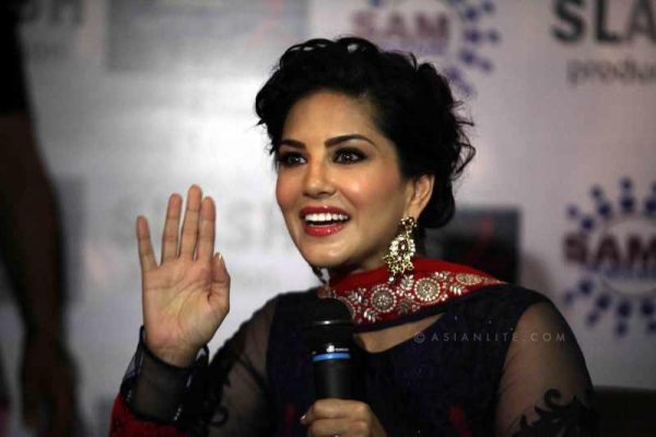 Sunny Leone promoting her film. The porn star become a celebrity after a reality show in telly