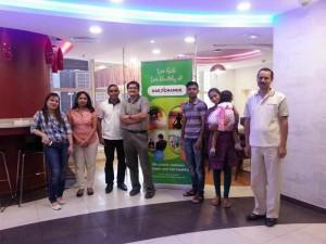 Dr Mandar Bichu (centre) with some session participants