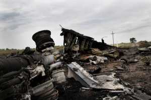 DONETSK:  The crash site