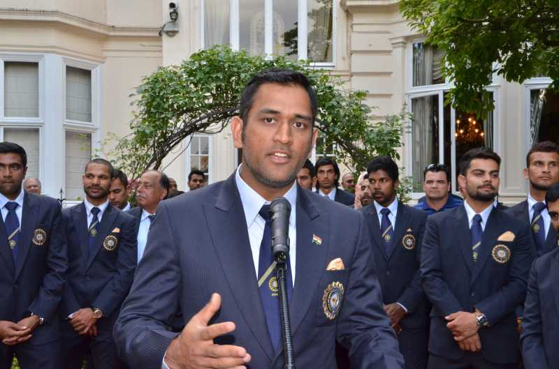 dhoni and cricket team india