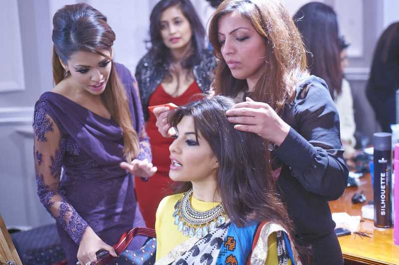Lubna at a Bollywood set