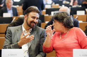 Afzal Khan during the Security and Defence Committee (SEDE) meeting in the European Parliament.
