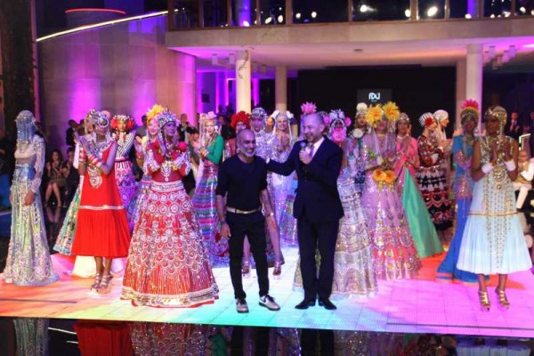 Designer Manish Arora' and his team