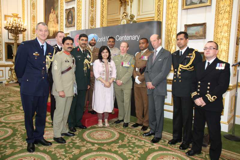 Baroness Sayeeda Warsi during an official engagement as foreign office minister