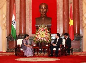 Indian Minister Sushma Swaraj in Vietnam