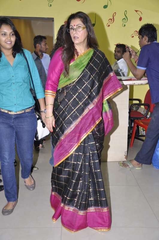 Actress Dimple Kapadia during the promotion of her film What The Fish in Mumbai on Dec.6, 2013. (Photo: IANS)