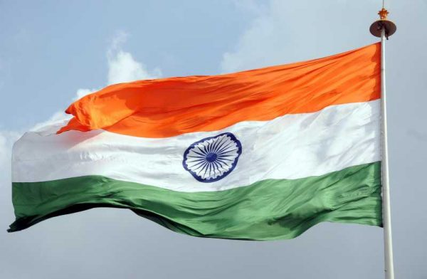 The Indian flag flutters in the skies of New Delhi on Aug 14, 2014. (Photo: IANS)