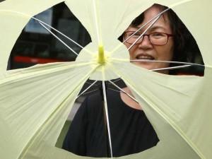 A South Korean environmentalist participates in a rally against South Korea's nuclear plants in Seoul, South Korea, Aug. 6, 2014. (Xinhua/Park Jin-hee)(zhf)