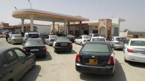 cars at petrol station