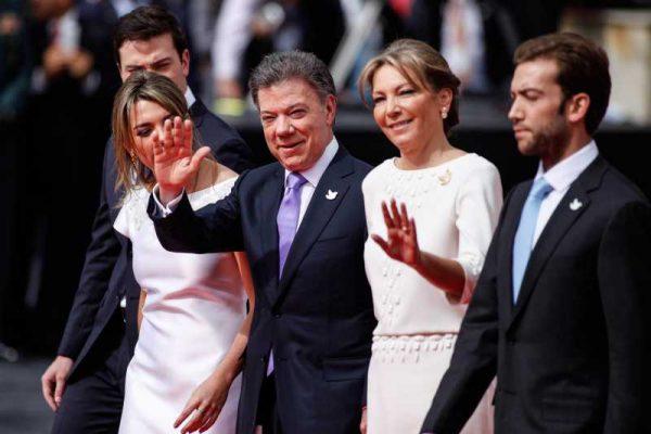 COLOMBIA-POLITICS-SANTOS-PRESIDENT-SWEARING-IN