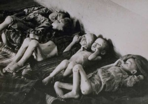 JASENOVAC,) -- A handout photo from Jasenovac Memorial Museum taken in Stara Gradiska Concentration camp in 1942 shows ill children in an attic room. Children were from the Kozara region in Bosnia-Herzegovina and detained in Stara Gradiska Concentration camp. The Jasenovac Memorial Site Memorial Museum was opened in 1968 close to the original site of former Ustasha-run concentration camp. Innumerable Jews, Gypsies, Serbs, Croats, and others have lost their lives in the notorious death camp from 1941 until 1945. (Xinhua/Jasenovac Memorial Museum Archive)
