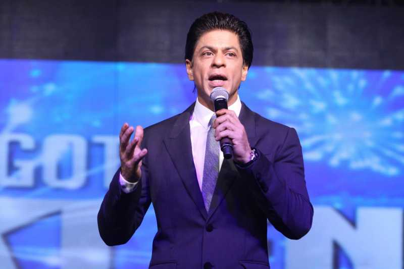 Actor Shahrukh Khan during the announcement of a new television show Got Talent World Stage Live in Mumbai, on August 1, 2014. The show will be hosted by Shahrukh and will be telecast on Colors channel. (Photo: IANS)