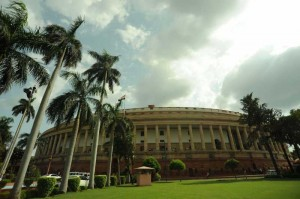 The Indian Parliament, New Delhi on Aug 14, 2014. (Photo: IANS)