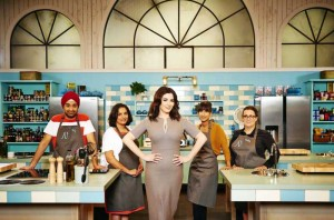 THE TASTE - Team Nigella Left to right: Raj, Kalpna, Mentor Nigella, Claire and Kelly