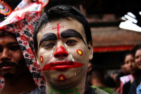 (WORLD SECTION) NEPAL-KIRTIPUR-GAIJATRA FESTIVAL