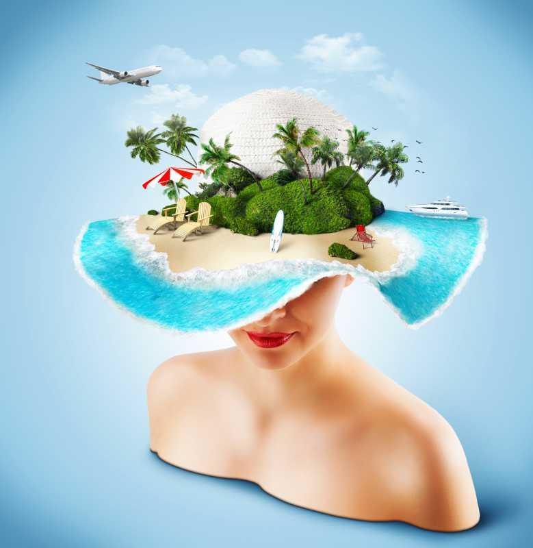 Woman travel fantacy