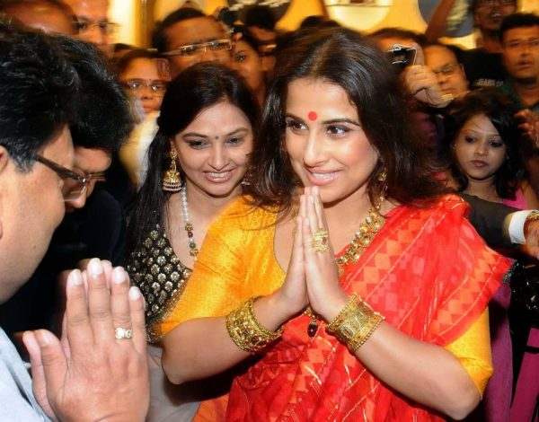 Actress Vidya Balan during inauguration of a jewellery store in Kolkata, on Sept. 25, 2014. (Photo: IANS)