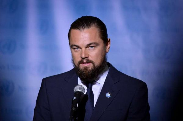 American actor Leonardo DiCaprio attends a ceremony for his designation as UN Messenger of Peace at the UN headquarters in New York, on Sept. 20, 2014. As a UN Messenger of Peace with a special focus on climate change, Mr. DiCaprio will address the UN Climate Summit on Sept. 23 in New York. (Xinhua/Niu Xiaolei)