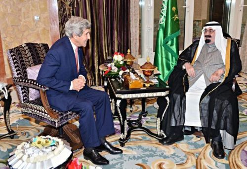 SAUDI-RIYADH-ABDULLAH-U.S.-KERRY-MEETING