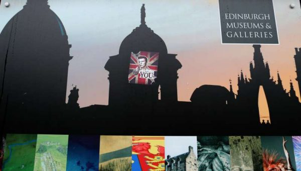 """Photo  shows a sticker with the word """"the UNION needs YOU"""" after the Scottish Independence Referendum in Edinburgh, Scotland. The """"No"""" campaign won the Scottish referendum on Friday to keep the territory within the United Kingdom"""