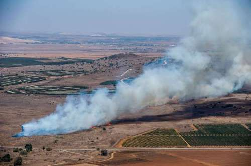 MIDEAST-GOLAN HEIGHTS-SYRIA-MORTARS-ATTACK