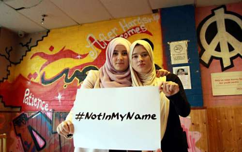 Young British Muslims have come together to launch a social media campaign against ISIS using #notinmyname to register their revulsion and the rejection of terrorist groups actions which claim are in the name of Islam some of its supporters has been led by East London based charity Active Change Foundation in Leytonstone.