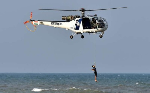 File photo of Coastal Security Group, Coast Guard and Indian Navy personnel participate in Tsunami Simulation - a security drill at Marina Beach in Chennai on May 30, 2014.