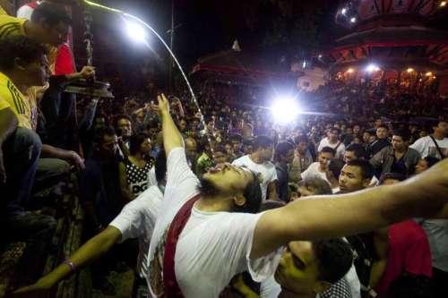 (WORLD SECTION) NEPAL-KATHMANDU-INDRA JATRA FESTIVAL