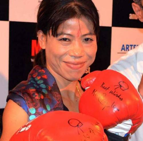 Indian boxer MC Mary Kom.
