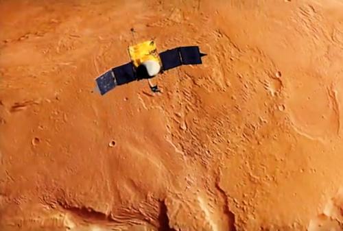Maven spacecraft to mars
