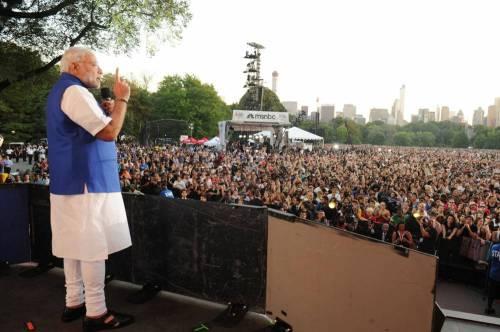 The Prime Minister, Shri Narendra Modi addressing the Global Citizen Festival, at Central Park, in New York