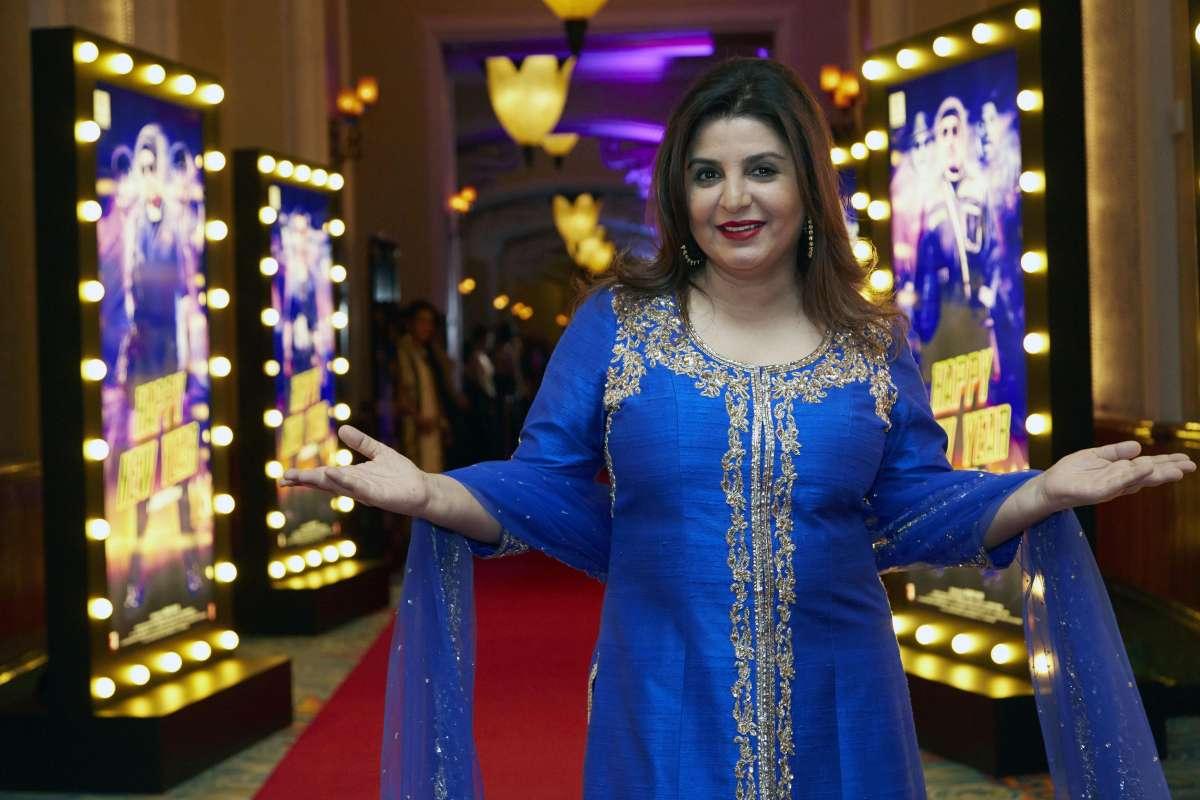 Mumbai: Filmmaker Farah Khan during the World premiere of film Happy New year in Dubai (File)