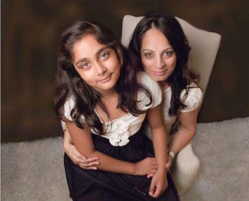 Mumpreneur Kiran Singh with her daughter Khushi Kaur
