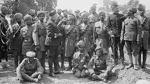 Muslim troops during the World War I missions