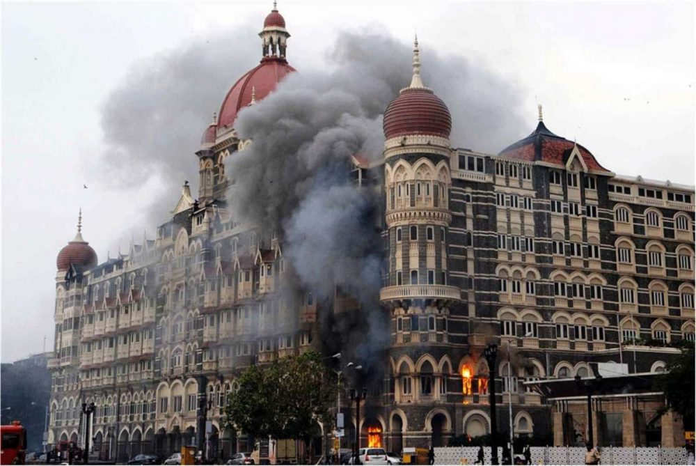A file photo of 26/11 Attacks on Mumbai. Ten heavily armed Pakistani terrorists had landed undetected in Mumbai's Badhwar Park in Colaba from the sea Nov 26, 2008, and laid siege to several key locations, including Chhatrapati Shivaji Terminus, Taj Mahal Hotel, Chabad House and Leopold Cafe. FILE PHOTO