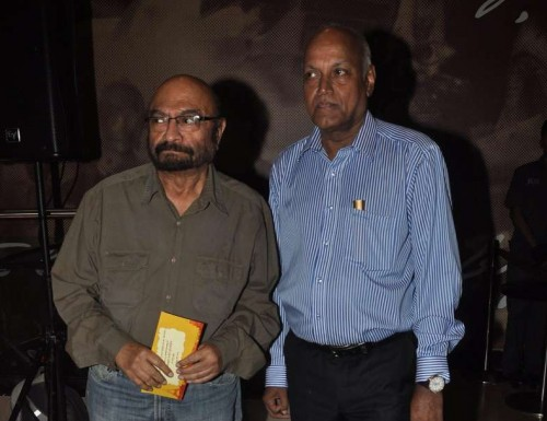 Filmmakers Govind Nihalani and Manmohan Shetty during the screening of Hollywood film The Hundred-Foot Journey in Mumbai on August 7, 2014.