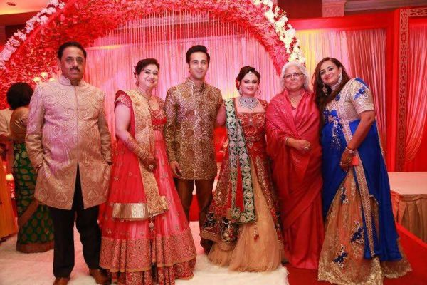 Mumbai: Actor Pulkit Samrat with his wife Shweta Rohita, during their wedding reception in New Delhi. (Photo: IANS)