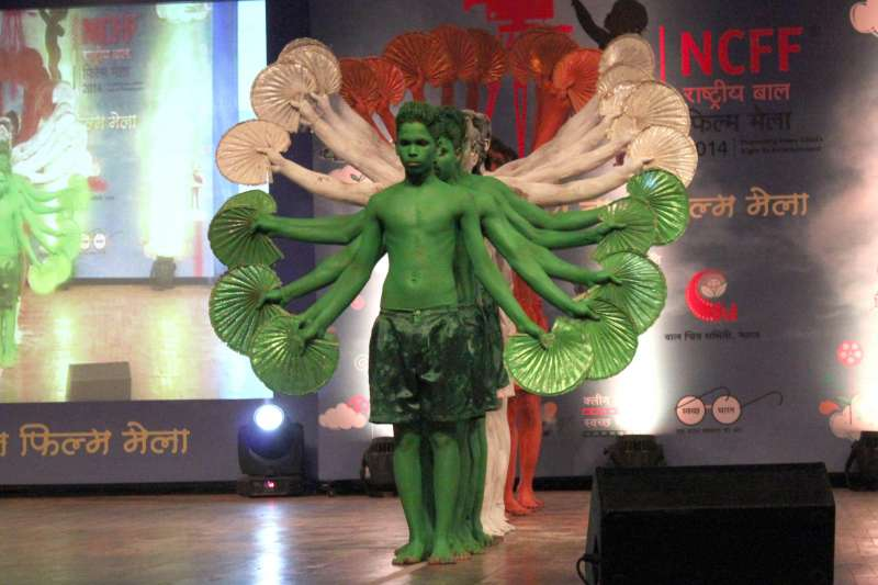 Prince Dance Group from Orissa perform during the inaugural function of National Children`s Film Festival in New Delhi, on Nov 14, 2014. (Photo: Amlan Paliwal/IANS)