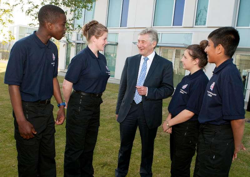 Police and Crime Commissioner Tony Lloyd with new GMP cadets